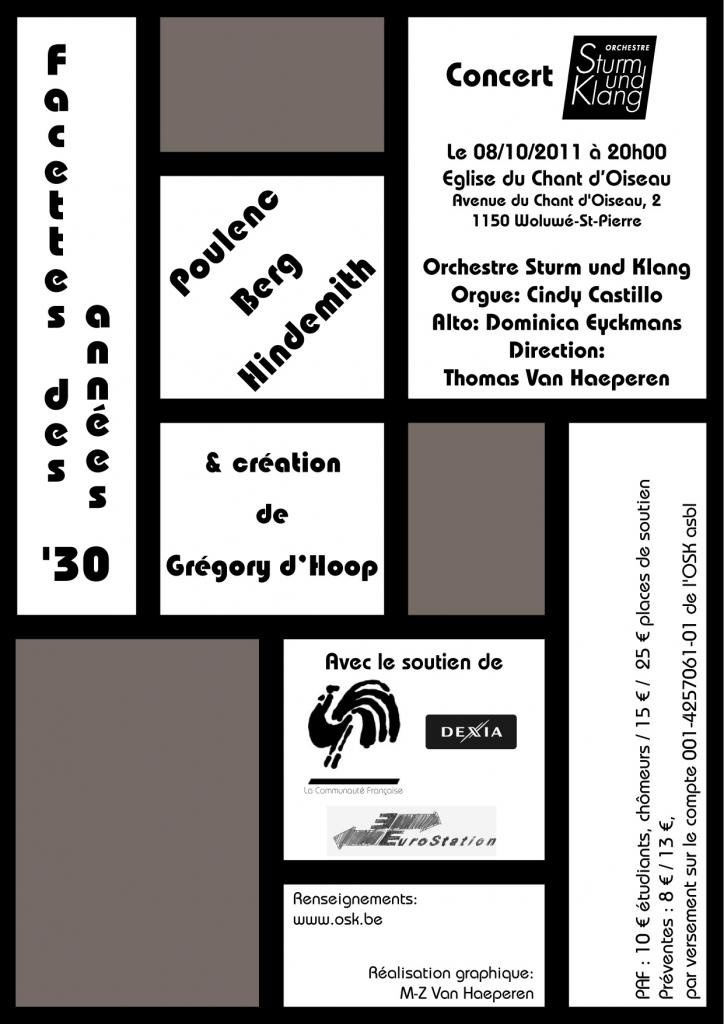 08/10/2011 - Facettes des années'30 - Eglise du chant d'oiseau