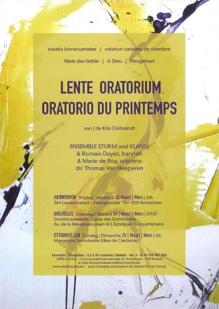 Mars 2012 - Oratorio du printemps
