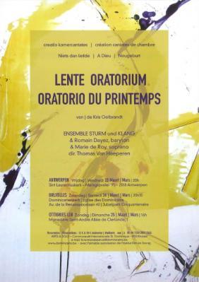 Affiche oratorio du printemps